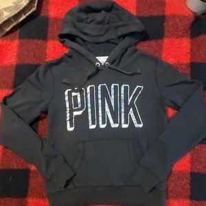 PINK black hoodie size small